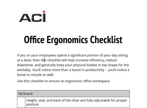 Download - Office Ergonomics Checklist PDF